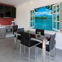 Фотография: Кухня и столовая в стиле Хай-тек, Декор интерьера, DIY, Обои – фото на InMyRoom.ru
