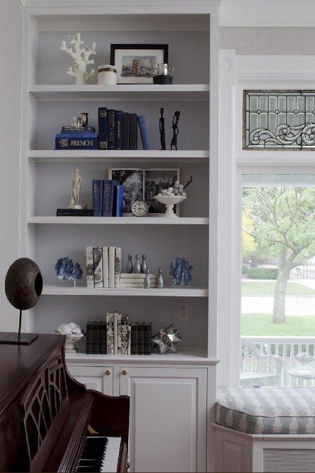 Фотография: Декор в стиле Скандинавский, Декор интерьера, Декор дома, Стеллаж, Полки, Домашняя библиотека – фото на InMyRoom.ru
