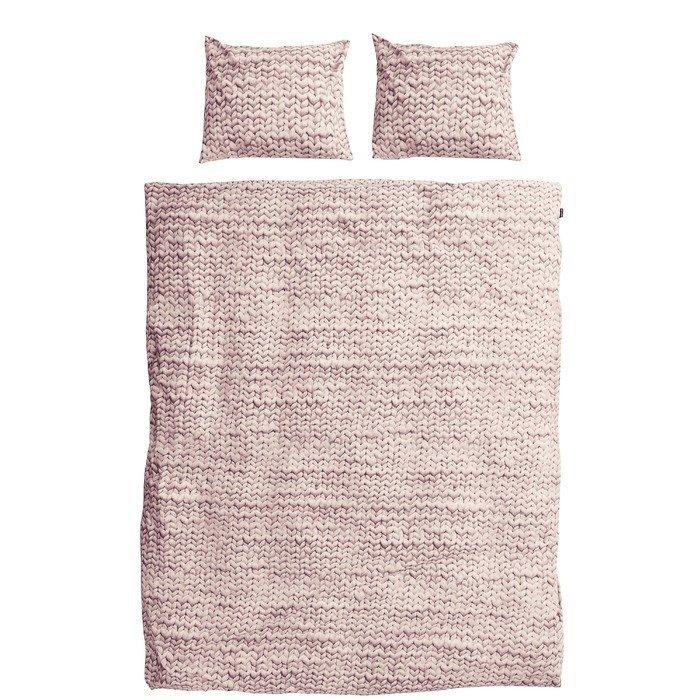 """Комплект постельного белья """"Косичка"""" 200х220 розовый"""