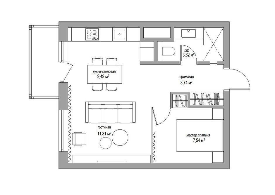 Фотография: Прочее в стиле , Малогабаритная квартира, Квартира, Дома и квартиры, Минимализм, Переделка – фото на InMyRoom.ru