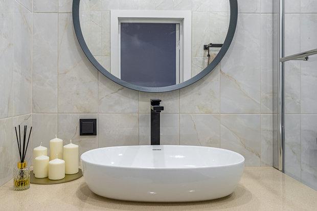 Фотография: Ванная в стиле Современный, Квартира, Проект недели, Москва, 3 комнаты, 60-90 метров, Марьям Разуваева – фото на INMYROOM