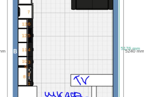 Помогите с планировкой кухни-гостинной 20м2.