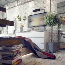 Фотография: Спальня в стиле Лофт, Квартира, Дома и квартиры, Индустриальный – фото на InMyRoom.ru