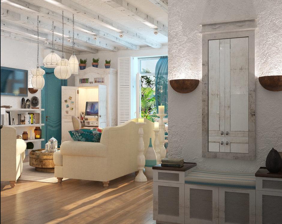 Фотография: Гостиная в стиле Прованс и Кантри, Квартира, Дома и квартиры, Проект недели, Средиземноморский – фото на InMyRoom.ru