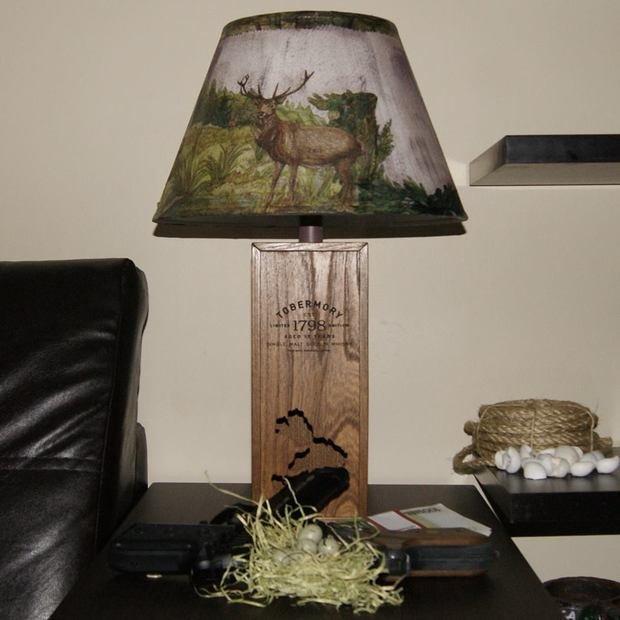 Настольные лампы ручной работы из бутылок