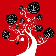 """Триптих на холсте: """"Red, black and white"""""""