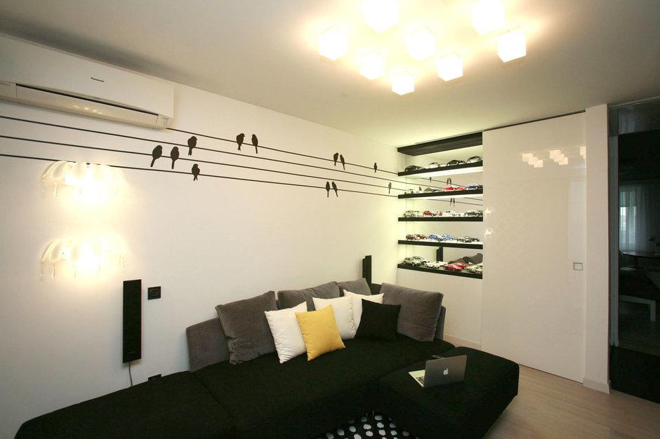 Фотография: Гостиная в стиле , Квартира, Дома и квартиры, Перепланировка, Ремонт – фото на InMyRoom.ru