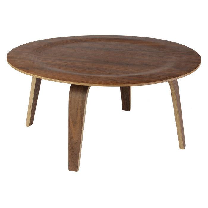 Стол журнальный Eames Style Coffee Table орех