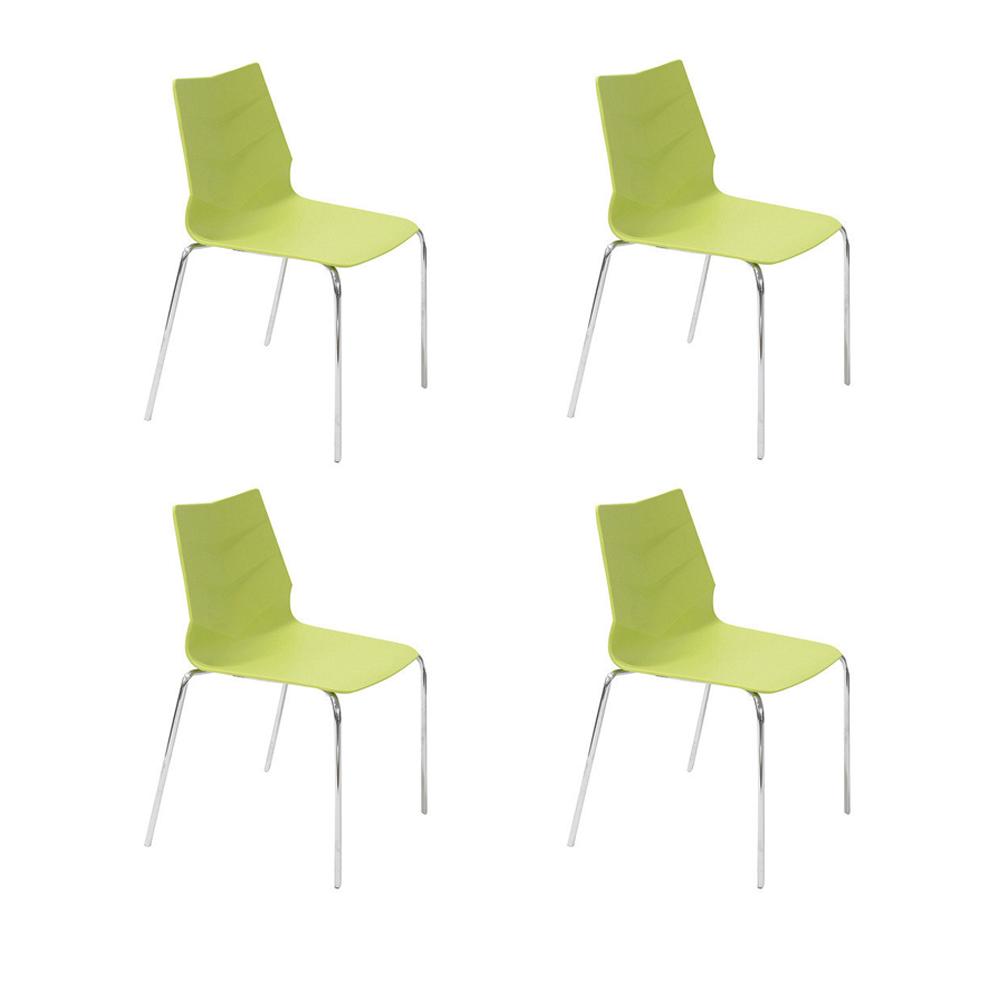 Купить Набор из 4-х стульев на ножках из хромированного металла, inmyroom