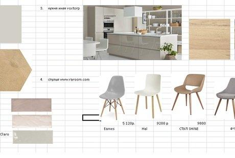 Помогите выбрать кухню и мебель в уже готовый ремонт