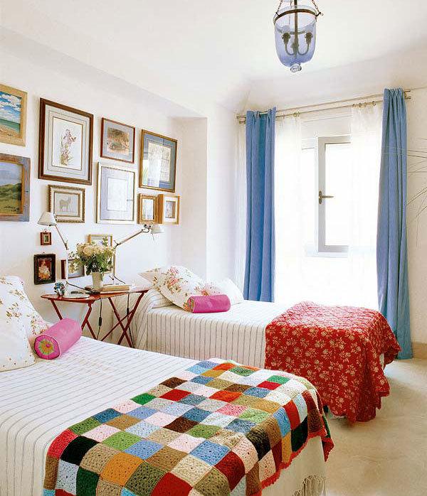 Фотография: Спальня в стиле Прованс и Кантри, Современный, Цвет в интерьере – фото на InMyRoom.ru