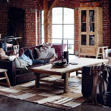 Фотография: Гостиная в стиле Кантри, Декор интерьера, Мебель и свет – фото на InMyRoom.ru