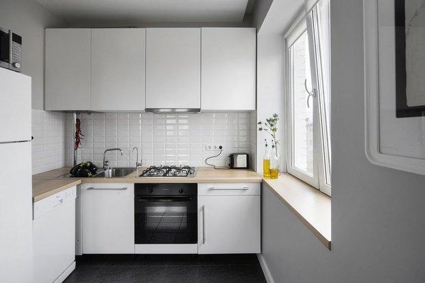 Фотография: Кухня и столовая в стиле Минимализм, Перепланировка, Ксения Юсупова – фото на InMyRoom.ru