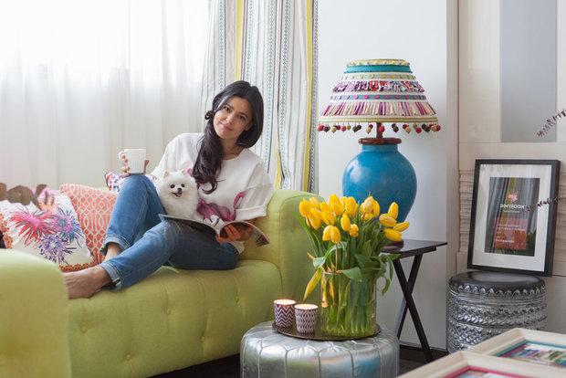 Квартира Жени Ждановой, ваза и свечи ИКЕА