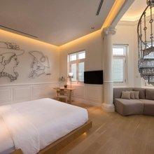 Фотография: Спальня в стиле Современный, Цвет в интерьере, Дома и квартиры, Городские места, Белый, Отель, Проект недели – фото на InMyRoom.ru