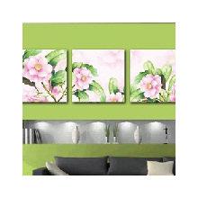 Триптих на холсте: Цветы шиповника