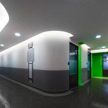Фотография: Офис в стиле Современный, Офисное пространство, Цвет в интерьере, Дома и квартиры – фото на InMyRoom.ru