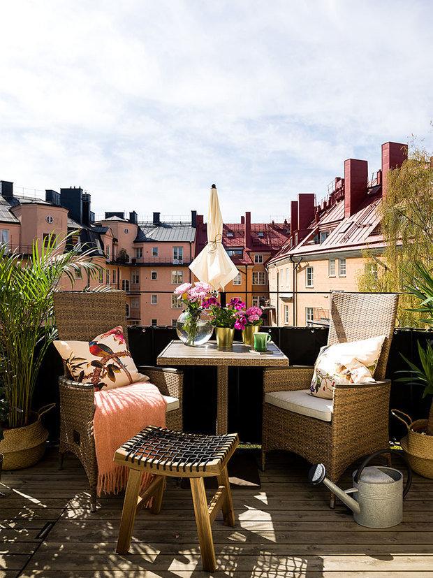 Фотография: Балкон в стиле Скандинавский, Современный, Прованс и Кантри, Декор интерьера, Квартира, Швеция, Стокгольм, 3 комнаты – фото на INMYROOM