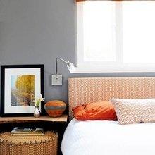 Фотография: Спальня в стиле Кантри, Современный, Декор интерьера, Дизайн интерьера, Цвет в интерьере, Оранжевый – фото на InMyRoom.ru