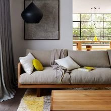 Фотография: Гостиная в стиле Лофт, Декор интерьера, Дизайн интерьера, Цвет в интерьере – фото на InMyRoom.ru