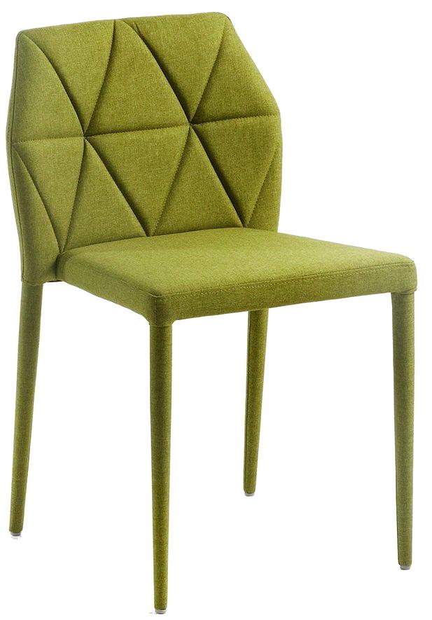Фото #1: Стул с мягкой обивкой Gravite зеленого цвета