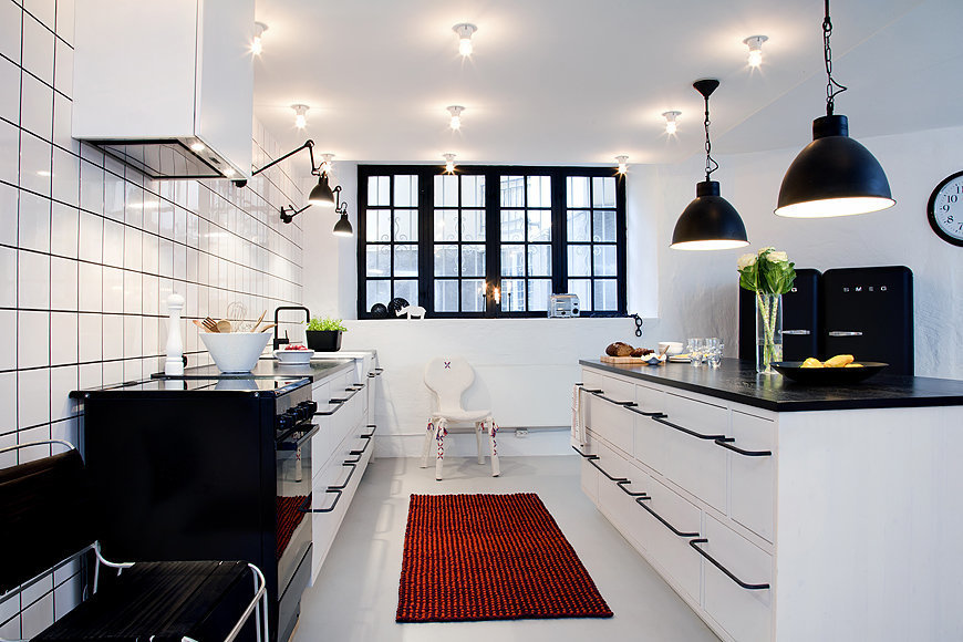 Фотография: Кухня и столовая в стиле Скандинавский, Современный, Квартира, Дома и квартиры, Стокгольм – фото на InMyRoom.ru