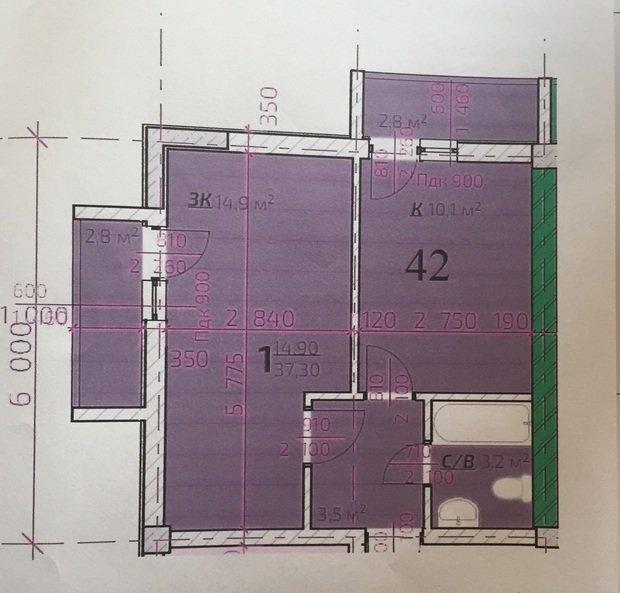 Помогите, пожалуйста , с перепланировкой 1-к квартиры для молодой семьи с ребенком (6 месяцев)