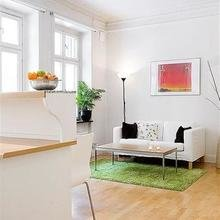 Фотография: Гостиная в стиле Скандинавский, Квартира, Цвет в интерьере, Дома и квартиры, Белый – фото на InMyRoom.ru