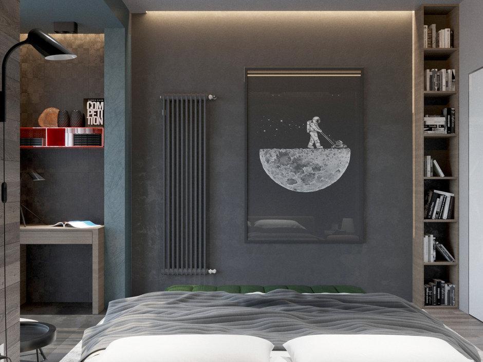Фотография: Спальня в стиле Современный, Квартира, Проект недели, Павел Алексеев, 3 комнаты, Более 90 метров, Монолитно-кирпичный, «Парк Рублево» – фото на InMyRoom.ru