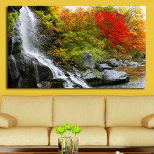 Декоративная картина на холсте: Осенний водопад