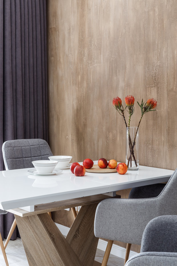 Фотография: Кухня и столовая в стиле Современный, Квартира, Проект недели, Краснодар, 3 комнаты, Более 90 метров, Archigram, Евгения Княжева – фото на INMYROOM