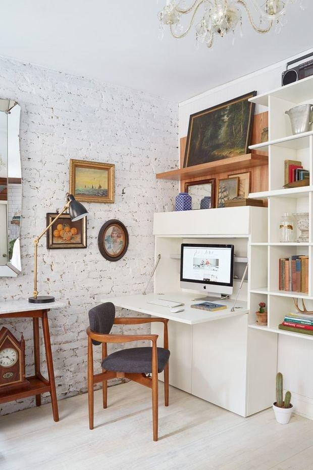Фотография: Кабинет в стиле Лофт, Малогабаритная квартира, Квартира, Советы – фото на InMyRoom.ru