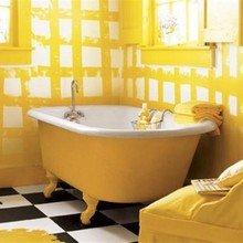 Фотография: Ванная в стиле Кантри, Интерьер комнат, Подсветка, Ванна – фото на InMyRoom.ru