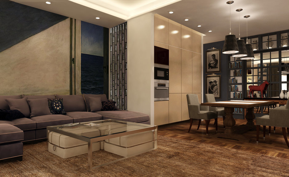 Фотография: Гостиная в стиле , Квартира, Дома и квартиры, Проект недели, Переделка – фото на InMyRoom.ru