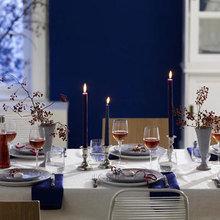 Фотография: Кухня и столовая в стиле Современный, Декор интерьера, Праздник, Новый Год, Сервировка стола – фото на InMyRoom.ru