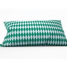 Диванная подушка: Зеленые ромбы