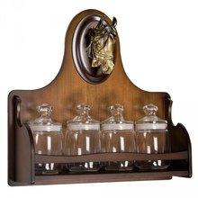 Набор из 4 банок (стекло) с полкой Дублин-3