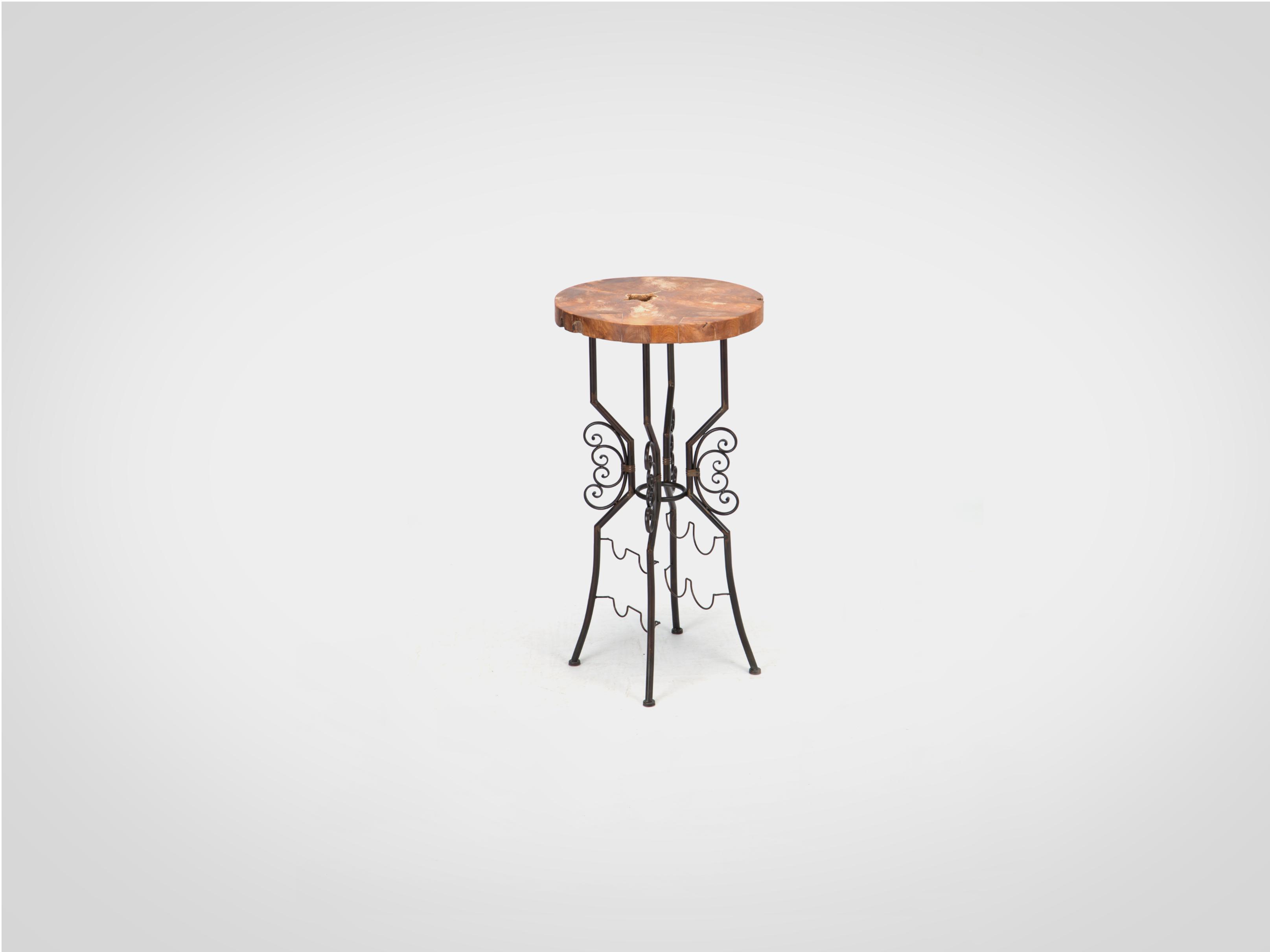 Купить Столик барный с держателями для напитков и бокалов 104х55 см, inmyroom, Китай
