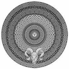 Тарелка знак зодиака 'Овен'