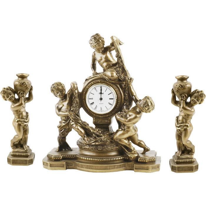 Часы настольные с подсвечниками