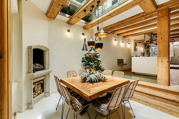Фотография: Кухня и столовая в стиле Скандинавский, Эко, Лофт, Современный, Декор интерьера, Архитектура, Планировки, Белый, Бежевый, Более 90 метров – фото на INMYROOM