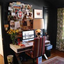 Фотография: Кабинет в стиле Современный, Декор интерьера, Декор дома, Цвет в интерьере, Обои – фото на InMyRoom.ru