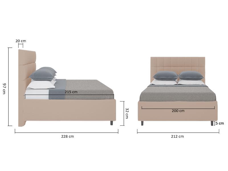 Размеры кроватей для спальни фото