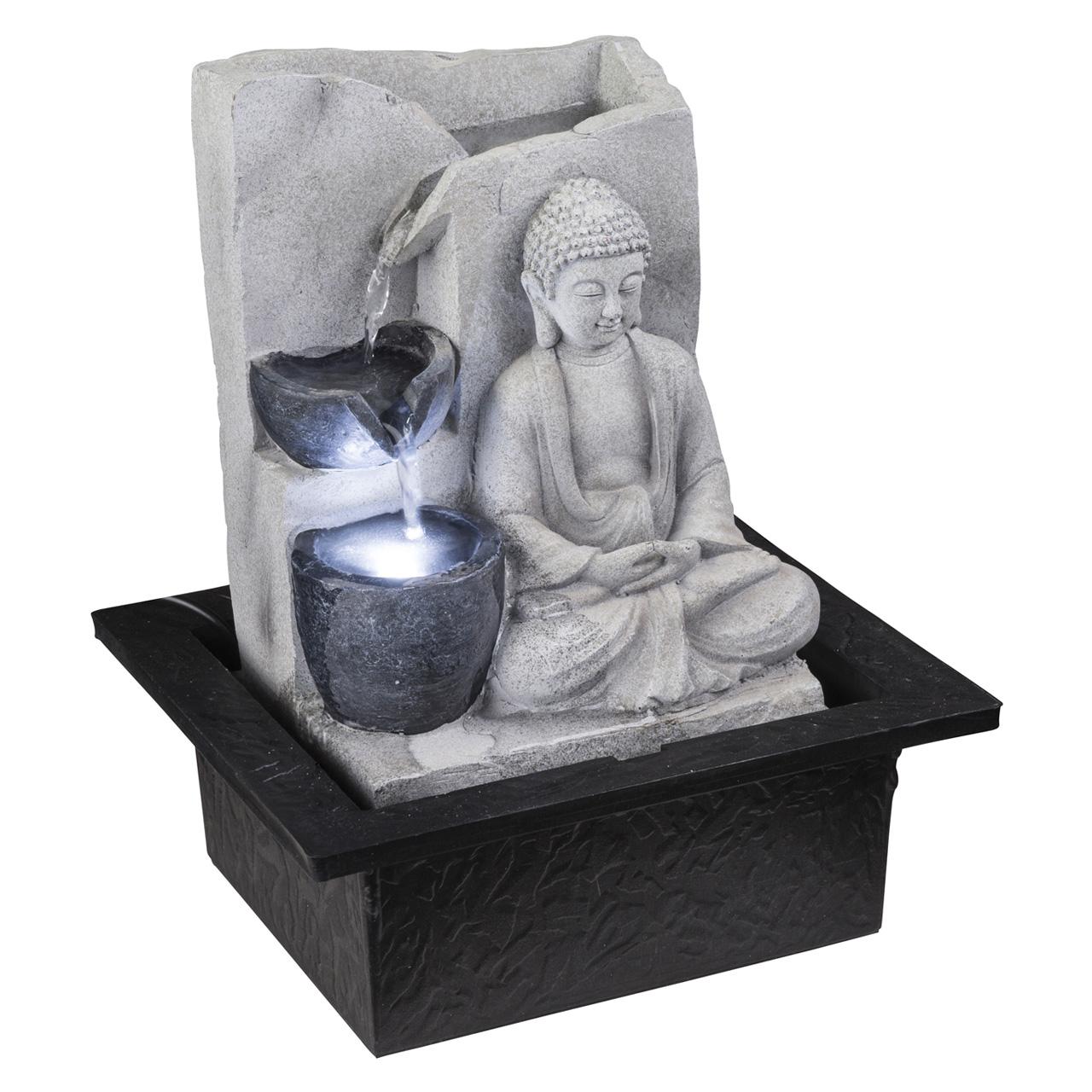 Купить Фонтан декоративный светящийся будда Globo Albert, inmyroom, Австрия