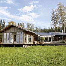 Фотография: Архитектура в стиле , Дом, Дома и квартиры, Большие окна, Дом на природе – фото на InMyRoom.ru