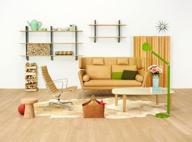 Фотография: Гостиная в стиле Эко, Декор интерьера, Мебель и свет – фото на InMyRoom.ru