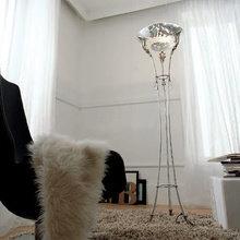 Торшер Isa Corsi декорирован серебряной фольгой
