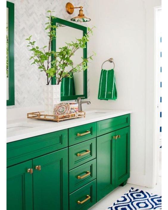 Фотография: Ванная в стиле Скандинавский, Советы, Зеленый – фото на InMyRoom.ru