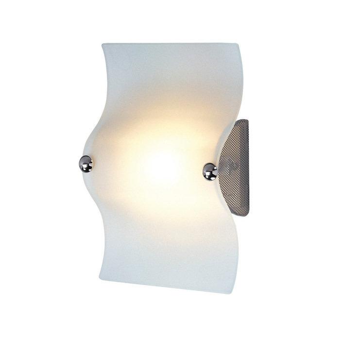 Светильник настенный SLV Crest серебристый / хром / стекло матовое