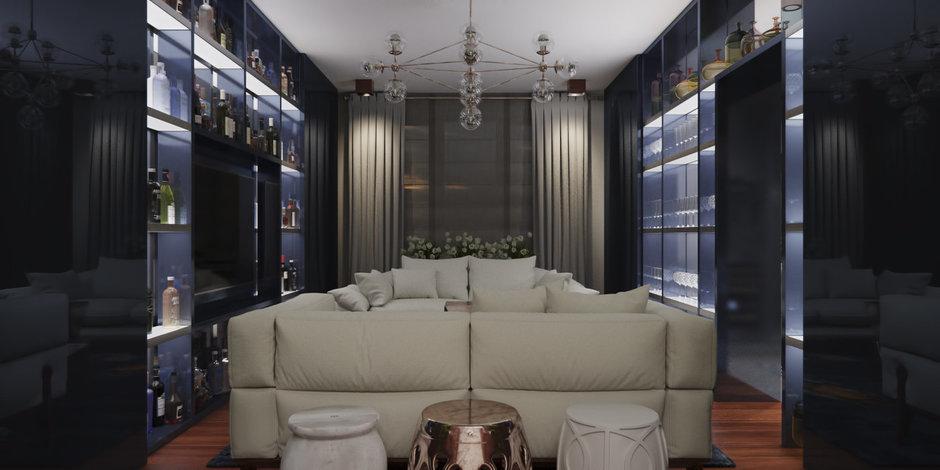 Фотография: Гостиная в стиле Эклектика, Минимализм, Квартира, Проект недели – фото на InMyRoom.ru